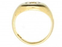 Victorian 18ct Gold Signet Ring with Lion's Head & Laurel Leaves Intaglio