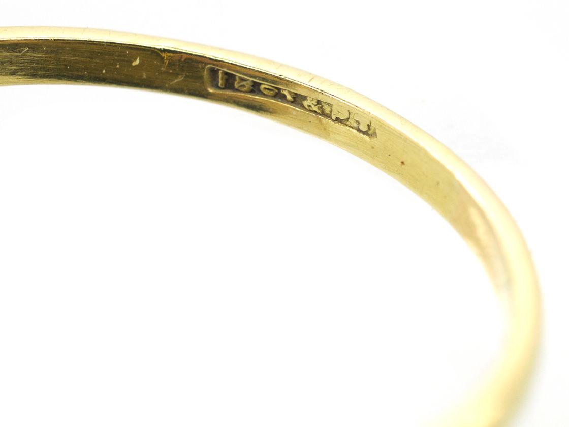 Edwardian 18ct & Platinum, Sapphire & Diamond Oval Cluster Ring