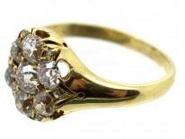 Victorian Old Mine Cut Diamond Cluster Ring