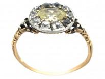 Georgian Oval Diamond Cluster Ring