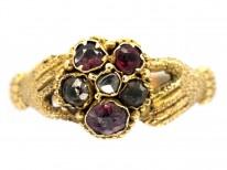 Late Georgian 15ct Gold Gem Set Token of Affection Ring