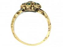 Georgian 18ct Gold, Emerald & Diamond Ring