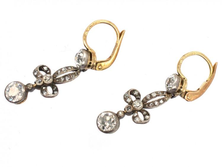 Belle Epoque Diamond Drop Earrings in Original Case