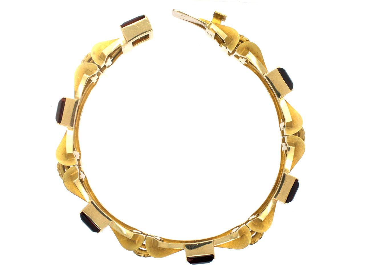 9ct Gold & Madeira Citrine 1960s Bracelet