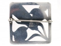 Georg Jensen Silver Square Bird Design Brooch