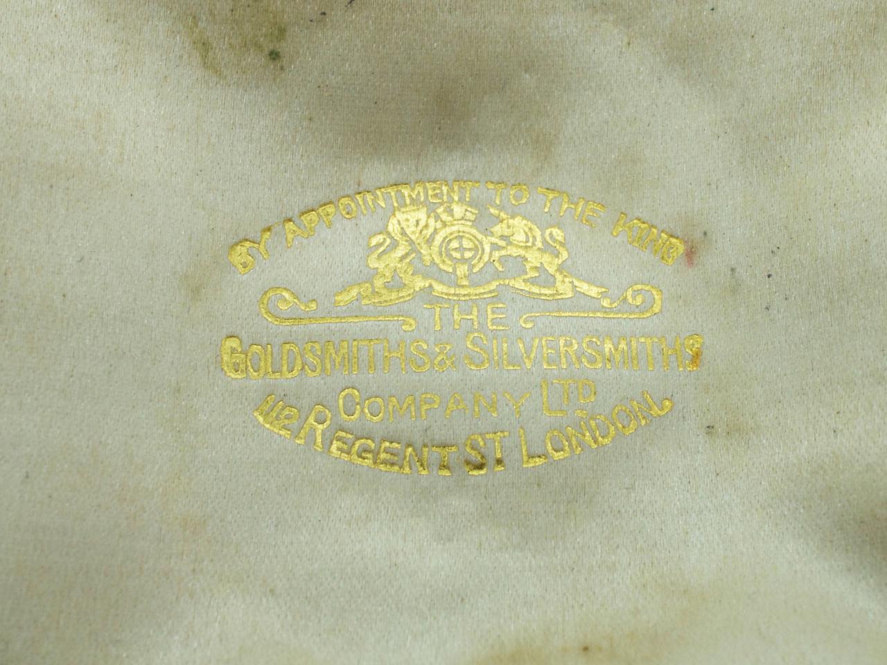 Victorian Diamond Crescent Moon Brooch in Original Case