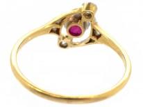 Edwardian Ruby & Diamond Ring