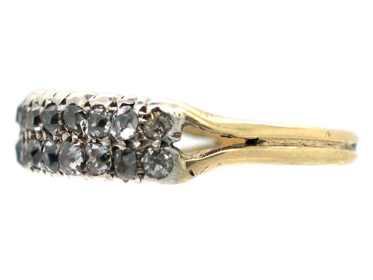 Georgian Two Row Diamond Ring