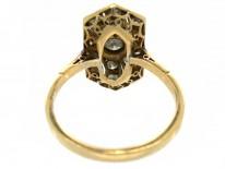 Art Deco Rectangular Wave Design Diamond Ring