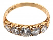 Victorian 18ct Gold Five Stone Ring