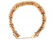 Edwardian 15ct Gold Lover's Knot Bracelet