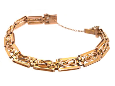 Edwardian 15ct Gold Lover's Knot Bracelet