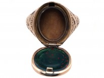 Victorian Opening Gold & Bloodstone Signet Ring