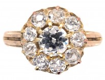 Victorian 18ct & Diamond Cluster Ring