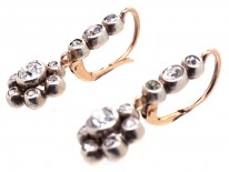 Victorian Diamond Cluster Drop Earrings  - WITH GUY
