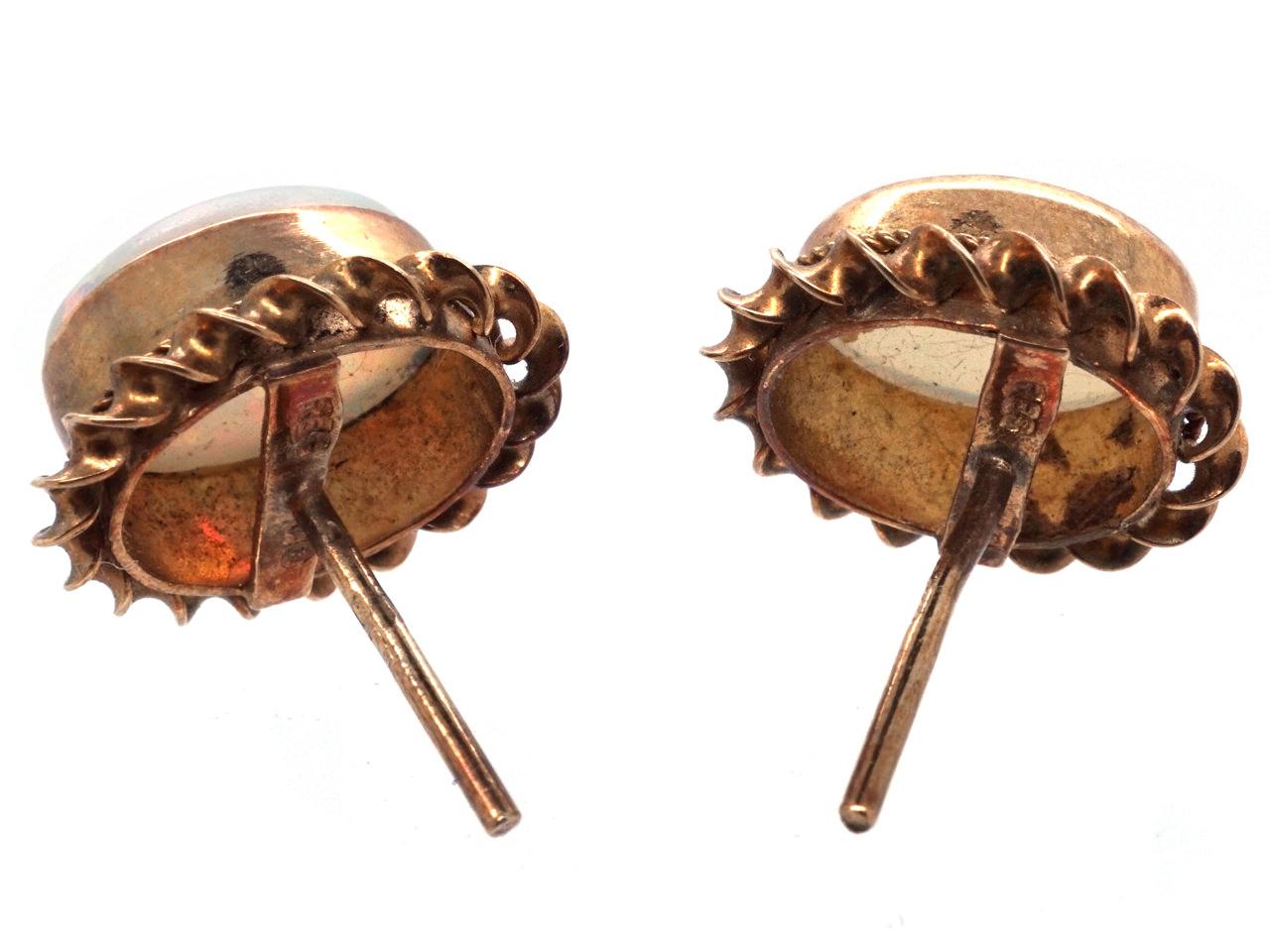 9ct Gold Opal Earrings