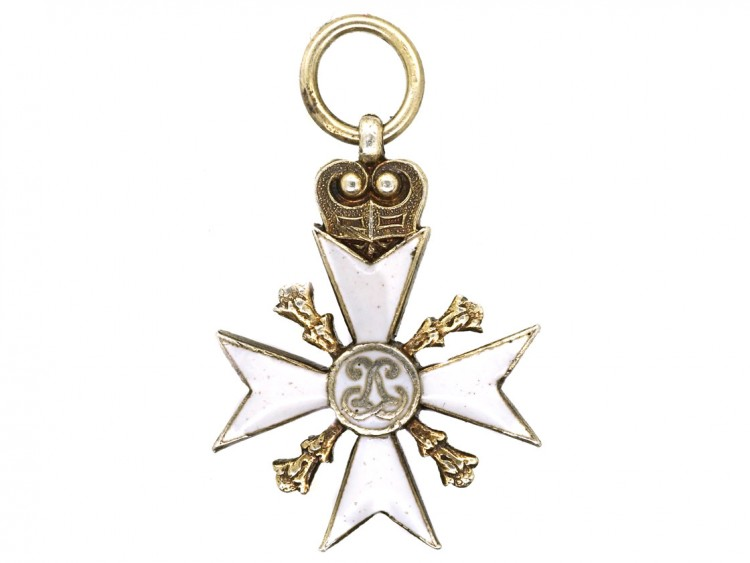 Silver Gilt Maltese Cross Charm
