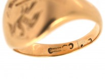 Victorian 15ct Gold Signet Ring with Eagle Intaglio