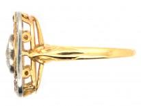 Art Deco Diamond & Ruby Square Ring
