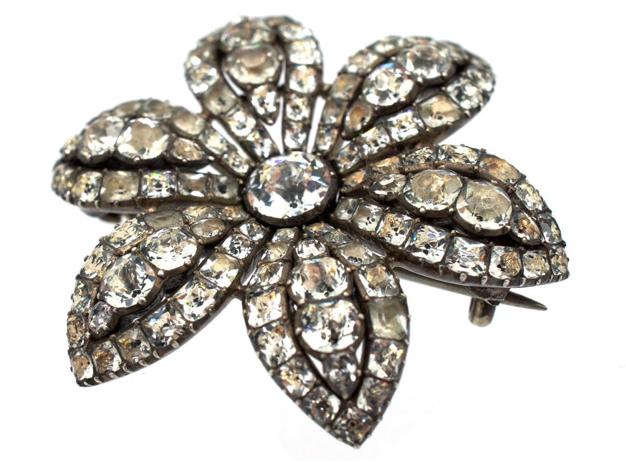 Silver & Paste Georgian Brooch