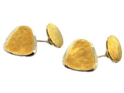 18ct White & Yellow Gold 1960s Modernist Cufflinks