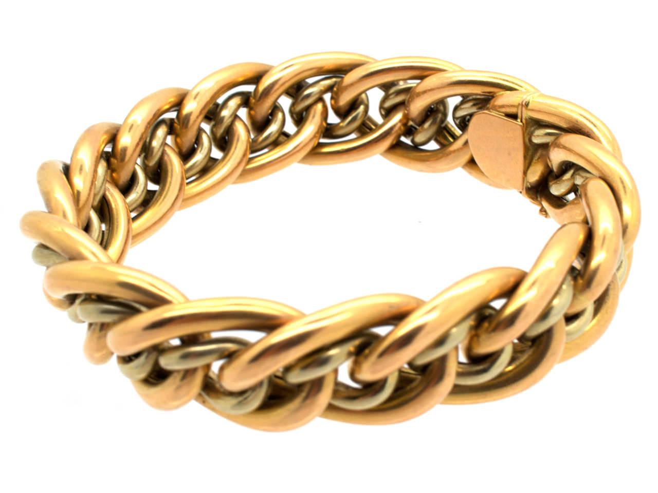 Edwardian 18ct Gold Woven Bracelet