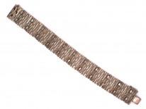1970s Silver Modernist Bracelet