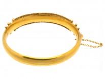 Victorian 9ct Gold Ruby & Diamond Bangle