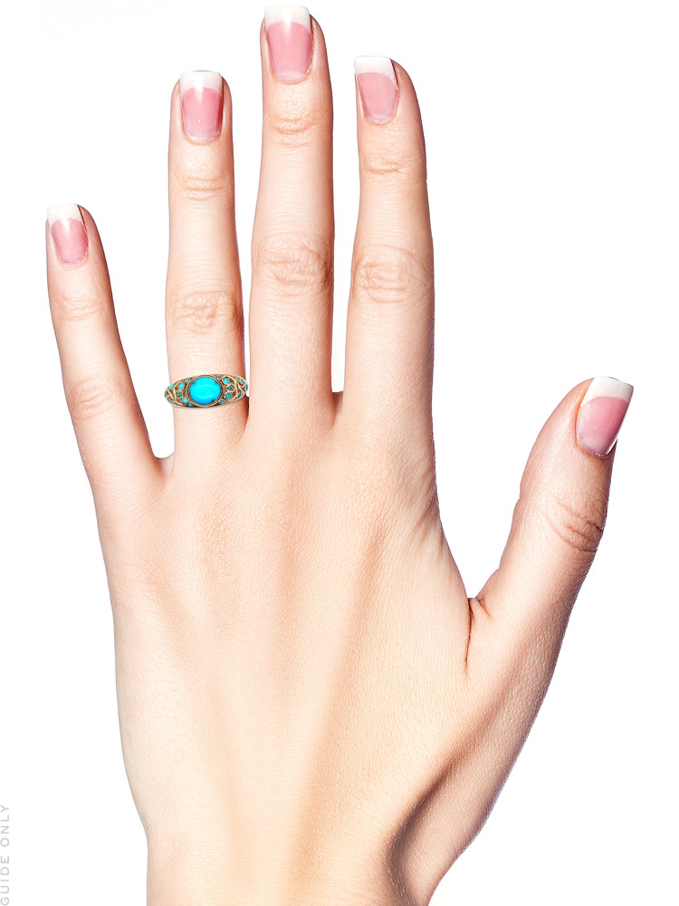 Regency 18ct Gold & Turquoise Ring