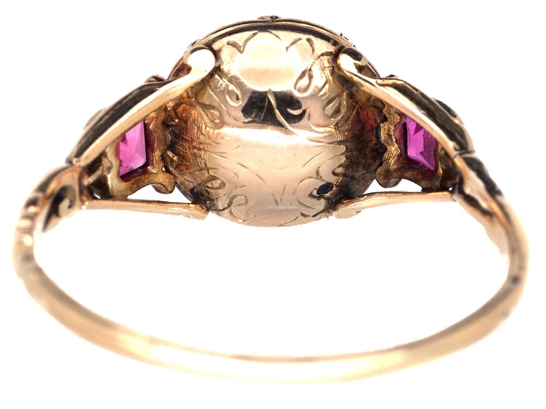 Georgian Chrysolite & Ruby Ring