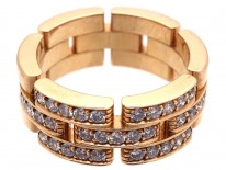 Cartier Maillon Panthere 18ct Yellow Gold Diamond Band Ring