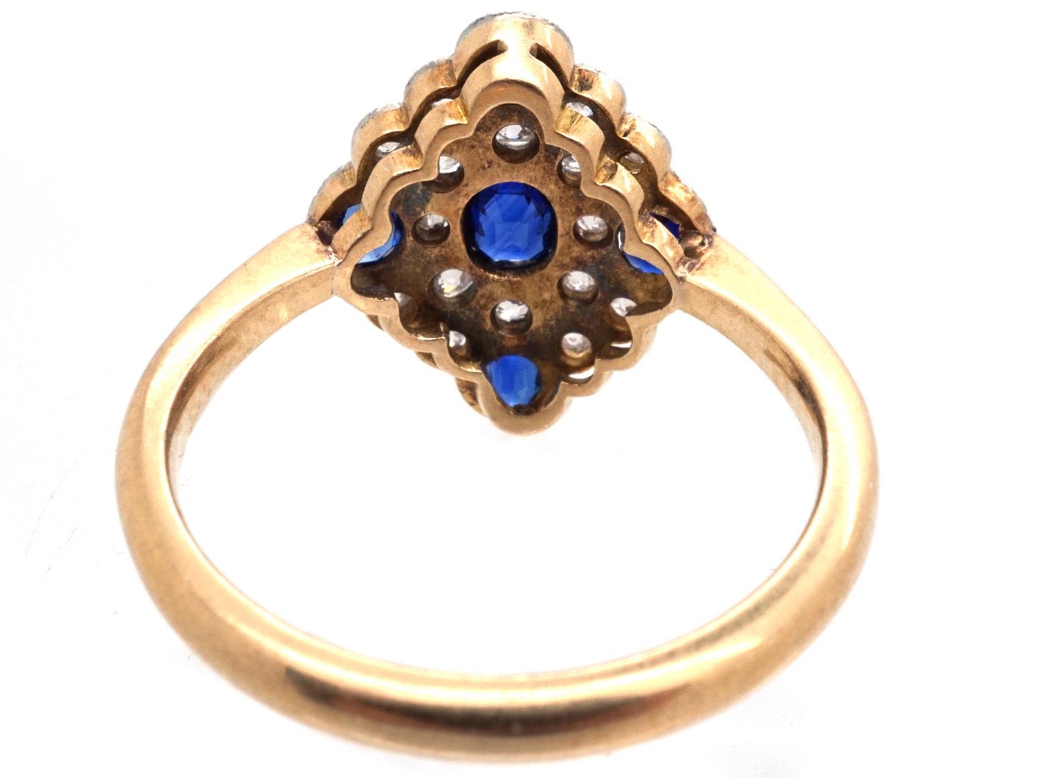 Edwardian Sapphire & Diamond Ring