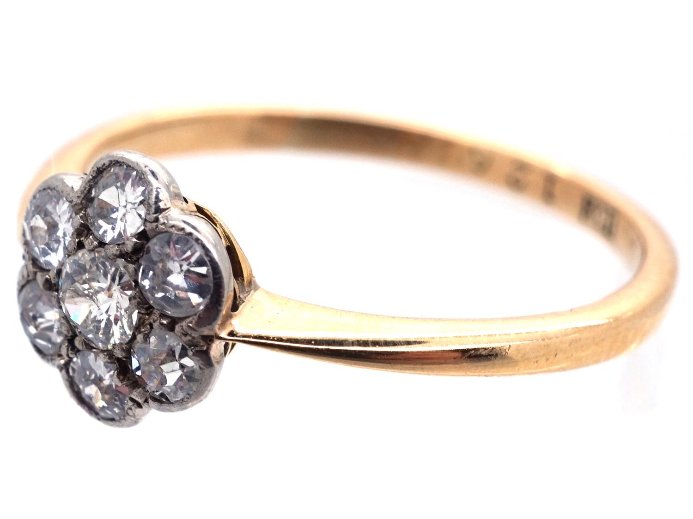 Edwardian Diamond Cluster Daisy Ring