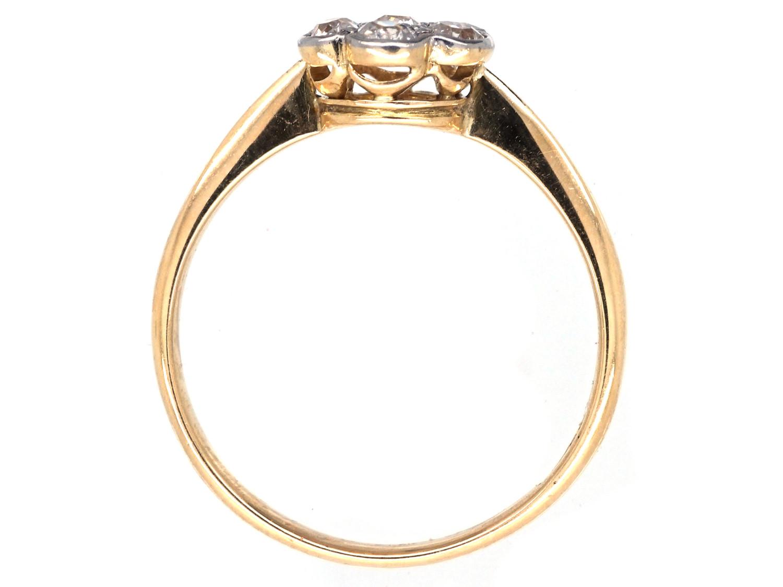 Edwardian Diamond Daisy Cluster Ring
