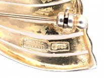 Theodor Fahrner Silver Gilt & Marcasite Bow Brooch