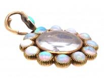 Edwardian 15ct Gold & Opal Locket Pendant