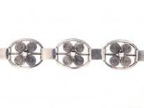 Silver Danish Viking Design Bracelet by Jens K.M Rungstrom