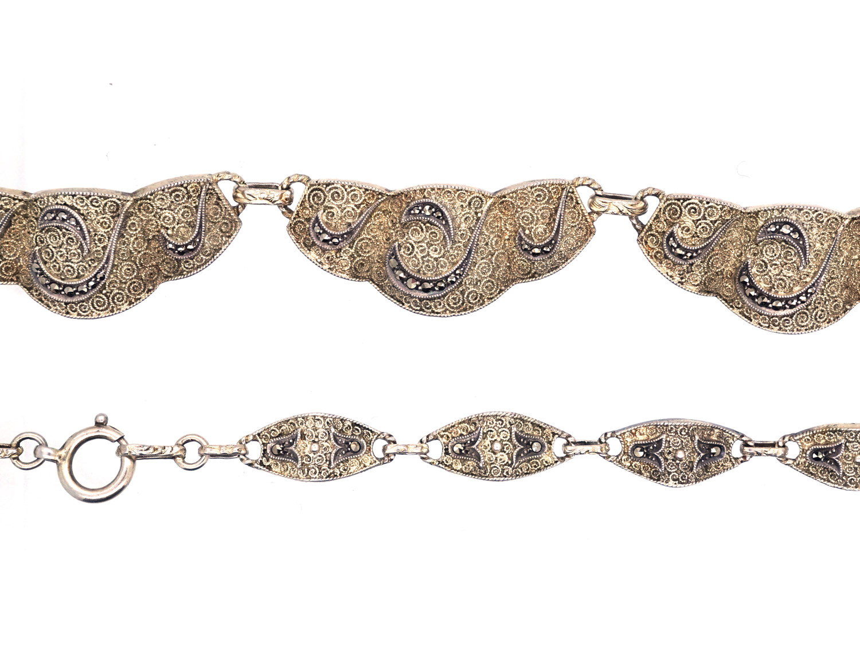 Theodor Farhner Art Deco Silver & Marcasite Necklace