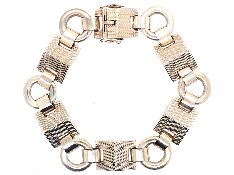 1950s 9ct White Gold Bracelet