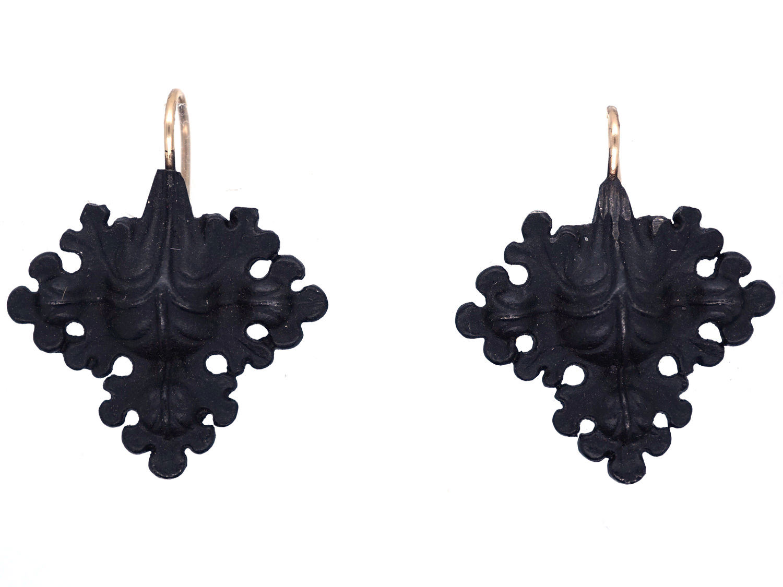 Berlin Iron Leaf Earrings