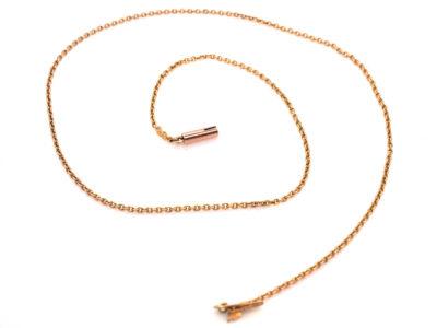 Edwardian 9ct Gold Fine Chain (39.5 cm)