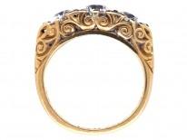 Victorian 18ct Gold Three Stone Diamond Ring