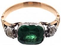Georgian Emerald Paste & Diamond Ring