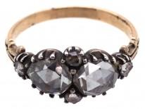Georgian Two Stone Rose Diamond Ring