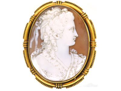 Victorian 15ct Gold Cameo of Lady's Head