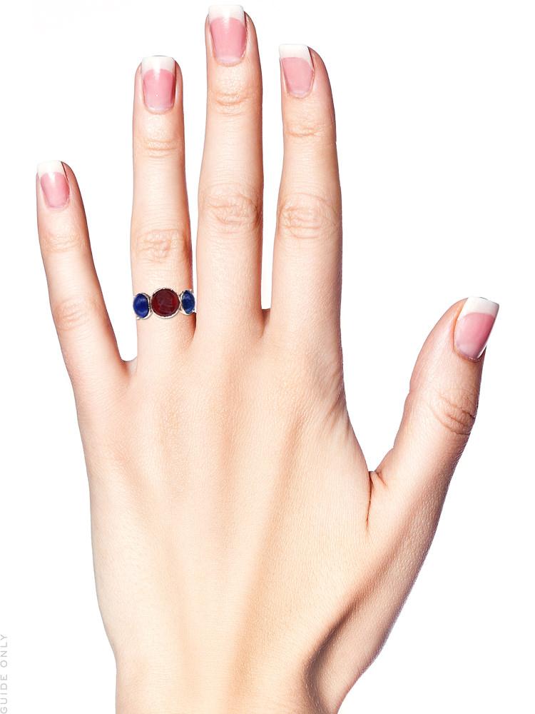 Grand Tour Georgian Carved Intaglio & Lapis Lazuli Ring