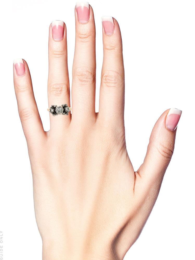 Georgian Diamond Three Stone Ring