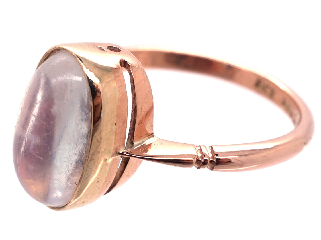9ct Gold & Oval Moonstone Ring