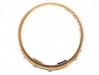 Victorian 18ct Gold, Sapphire & Diamond Gypsy Ring