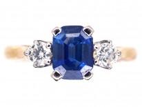 18ct Gold Sapphire & Diamond Ring by Cropp & Farr
